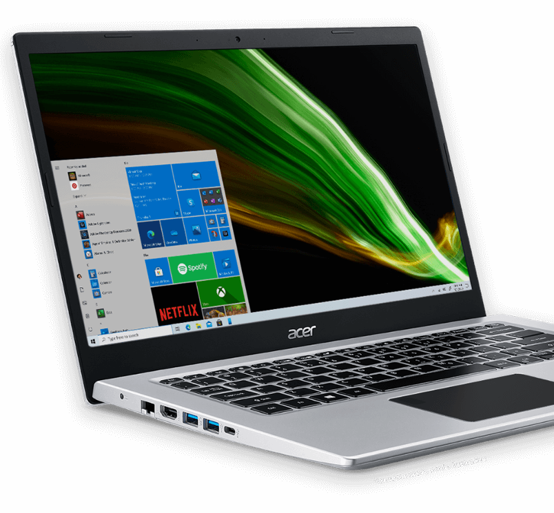 notebooka acer aspire 5 lateral